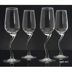 Kieliszki 4 x kieliszek do szampana Curl Luminarc
