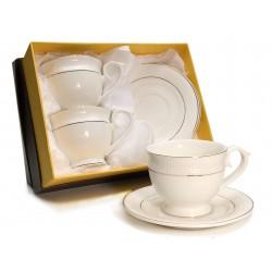 Filiżanki + spodki porcelana Tetra Round Veroni