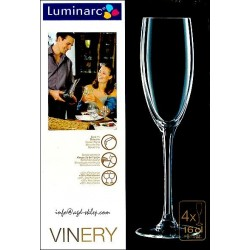 LUMINARC 4-kieliszki do szampana VINERY 16cl