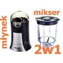 Mini blender mikser młynek do kawy 2w1 Menuet
