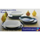 Serwis obiadowy Luminarc CARINE czar-biał. 18cz.