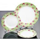 18cz Serwis obiadowy porcelana Bone China Green