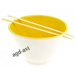 Miska z pałeczkami SUSHI żółta porcelana