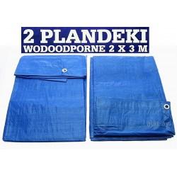 Plandeki wodoodporne 2 x 3m 2 sztuki w komplecie