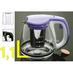 Dzbanek zaparzacz szkło kawy herbaty ziół zielony