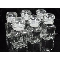 Zestaw 6 pojemników szklanych do przypraw Banquet