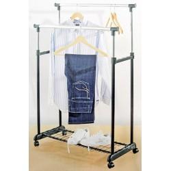 Wieszak garderobiany stojak na ubrania podwójny