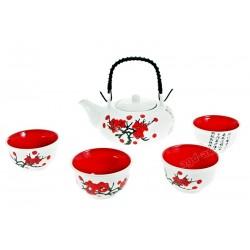 Oryginalny zestaw do herbaty Sushi 5cz. biały