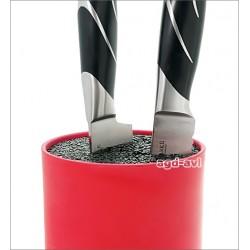 Stojak blok do noży uniwersalny czerwony