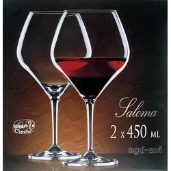 2-kieliszki do wina czerwonego Saloma Bohemia Crystal