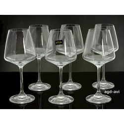 Kieliszki 400ml wino czerwone 6szt czeska marka Bohemia Crystal