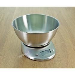 Waga kuchenna 5kg elektroniczna nierdzewna z misą