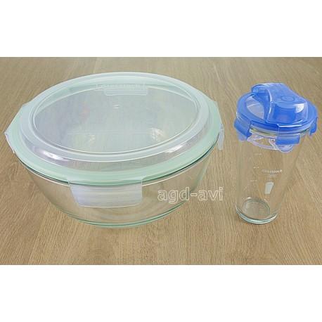 Miska do sałatek + Shaker szkło hartowane