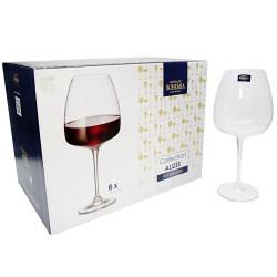Kieliszki do wina czerwonego ALIZEE Bohemia Crystal 6el 770ml