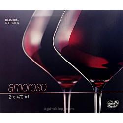 2-kieliszki do wina czerwonego Amoroso Bohemia Crystal