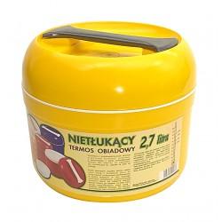 Termos obiadowy nietłukący 2,7L żółty