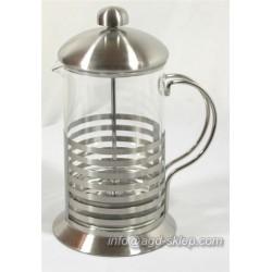 Dzbanek zaparzacz 350ml z sitem tłokowym do kawy, herbaty, ziół