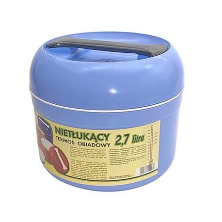 Termos obiadowy nietłukący 2,7L niebieski