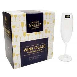 6 kieliszków do szampana Bohemia Crystal
