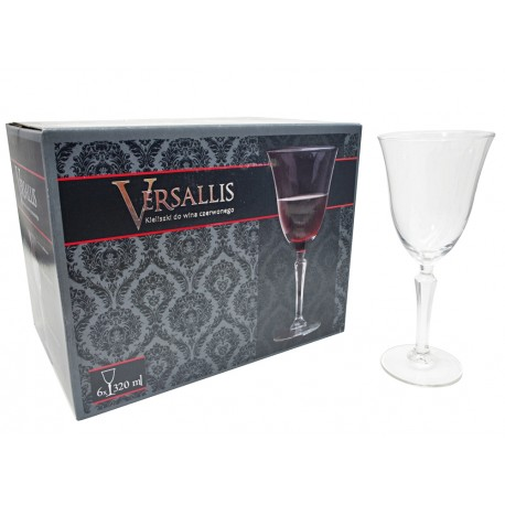 Kieliszki do wina czerw Versallis Royal Leerdam 320ml
