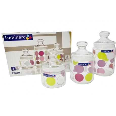 Słoiki hermetyczne do żywności 3szt Luminarc Zoom