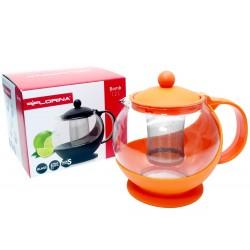 Dzbanek zaparzacz do kawy herbaty ziół pomarańczowy