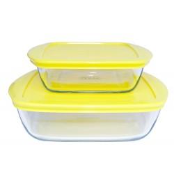 2 Pojemniki żaroodporne do żywności mrożonek Pyrex