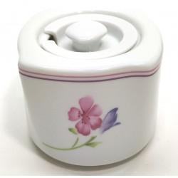 Cukiernica z pokrywką biała porcelana