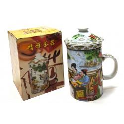 Kubek do ziół, herbaty z sitkiem do zaparzania - HS - 220.3