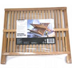 Suszarka do naczyń składana drewno kauczukowe