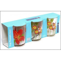 3-szklanki 30cl POP FLOWERS LUMINARC