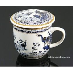 Kubek do ziół, herbaty z sitkiem do zaparzania - PAW niebieski