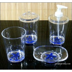 Zestaw łazienkowy akrylowy 4-cz