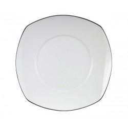 Talerz płytki obiadowy kwadrat PLATYNA
