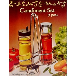 Zestaw do przypraw olej ocet 2el. szkło