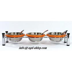 Zestaw pojemników do sosów dipów z łyżeczkami