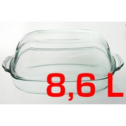 Naczynie żaroodporne owalne 8,6L z pokrywą