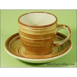 Zestaw 2 filiżanek + spodki KOBE ceramika